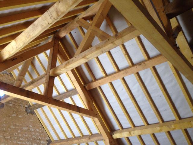 Création intégrale d'une charpente par nos charpentiers spécialiste de la toiture - Nogent le Rotrou, Nocé, Bellême, Chartres, Le Mans - Eure et Loir - Sarthe - Orne - Perche