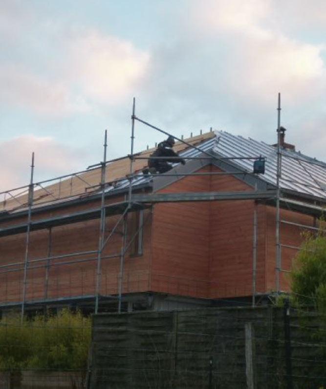 Création et Rénovation de la toiture en zinc (BAC, JOINT-DEBOUT, ZINC, QUARTZ) près de nogent-le-rotrou, capital du Perche en eure et loir limitrophe de l'Orne et de la Sarthe